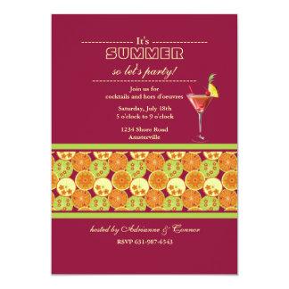 柑橘類の歓喜の招待状 カード