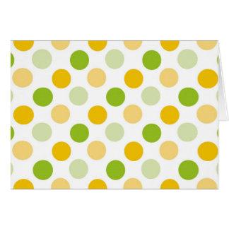 柑橘類の水玉模様 カード