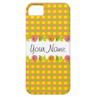 柑橘類の点検の「名前」のiPhone 5の場合の垂直 iPhone SE/5/5s ケース