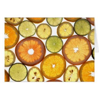 柑橘類の空白のな挨拶状 カード