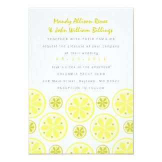 柑橘類の結婚式招待状 カード