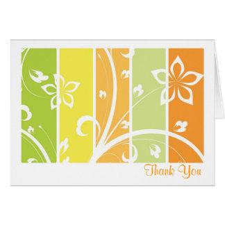 柑橘類の花柄のサンキューカード カード