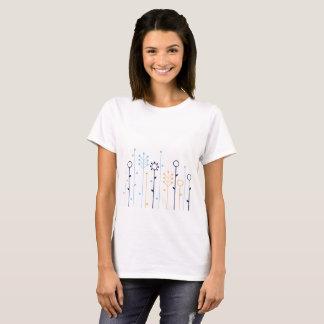 柑橘類の草が付いている白いTシャツ Tシャツ