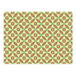 柑橘類の葉パターン ポストカード