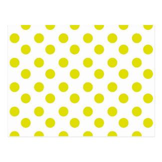 柑橘類の黄色い水玉模様 ポストカード