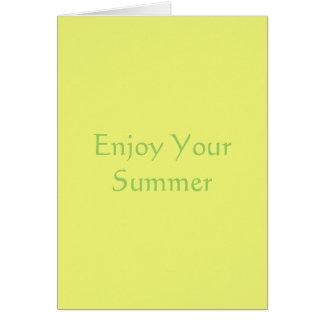 柑橘類の黄色 カード