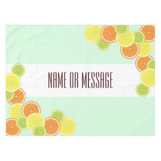 柑橘類はかわいくモダンな夏のカスタムを模造します テーブルクロス
