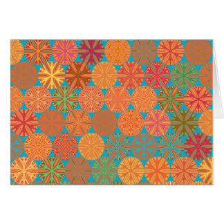 柑橘類は青いカードの幾何学的スライスします カード