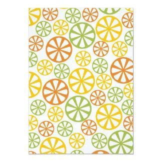 柑橘類パターンカスタムの招待 12.7 X 17.8 インビテーションカード