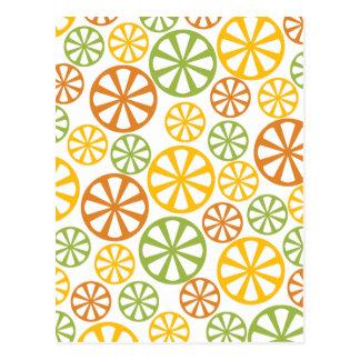 柑橘類パターンカスタムの郵便はがき ポストカード