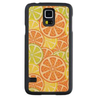 柑橘類パターン2 CarvedメープルGalaxy S5スリムケース