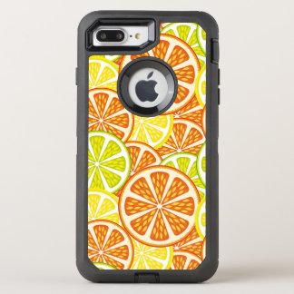 柑橘類パターン オッターボックスディフェンダーiPhone 8 PLUS/7 PLUSケース