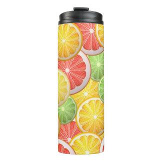 柑橘類パターン-グレープフルーツ、レモン、オレンジライム タンブラー