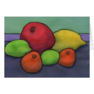 柑橘類及びザクロNotecard カード