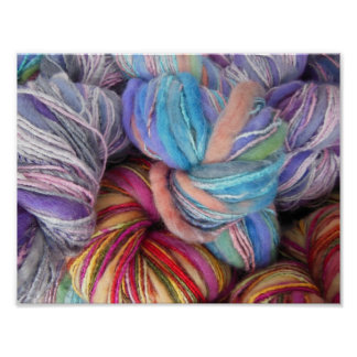 染められた編み物ヤーン ポスター