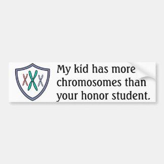 染色体の名誉学生 バンパーステッカー