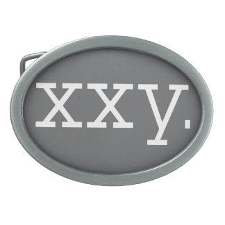 染色体- XXYは、楕円形を締めます 卵形バックル