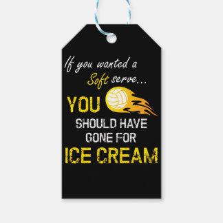 柔らかいのがほしいと思ったらアイスクリーム-バレーボール--に役立って下さい ギフトタグ