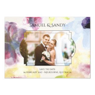 柔らかいカスタムな写真の結婚式招待状カードカラフル カード
