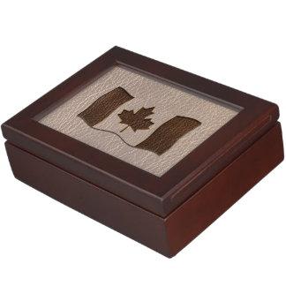 柔らかいカナダのレザールックの旗 ジュエリーボックス