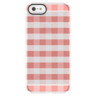 柔らかいツバキのピンクのギンガムの点検パターン PERMAFROST iPhone SE/5/5sケース