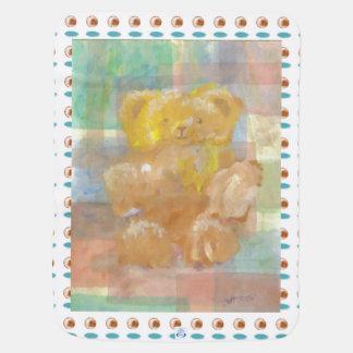 柔らかいテディー・ベアの芸術の新生児毛布のシャワーのギフト ベビー ブランケット