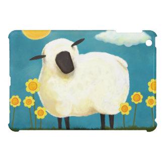 柔らかいヒツジおよび黄色の花のiPad Miniケース iPad Miniカバー