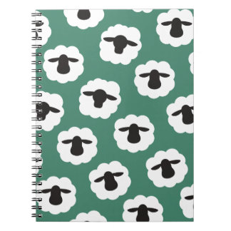 柔らかいヒツジはパターンを制作します ノートブック