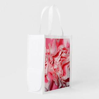 柔らかいピンクのカーネーションの写真のイメージのエコバッグ エコバッグ