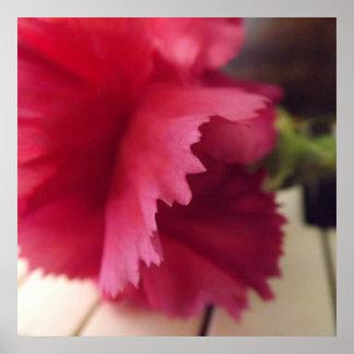 柔らかいピンクのメロディーのプリント ポスター