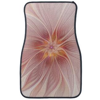 柔らかいピンクの花の夢の抽象芸術のモダンの花 カーマット