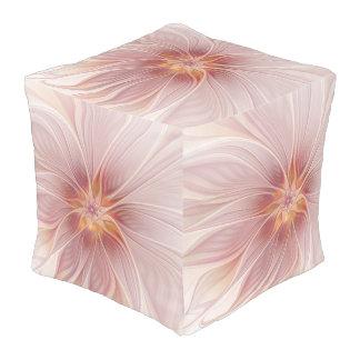 柔らかいピンクの花の夢の抽象芸術のモダンの花 プーフ