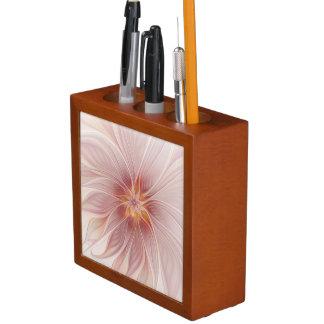 柔らかいピンクの花の夢の抽象芸術のモダンの花 ペンスタンド