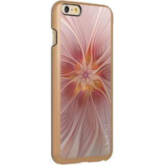 柔らかいピンクの花の夢の抽象芸術のモダンの花 INCIPIO FEATHER SHINE iPhone 6 PLUSケース