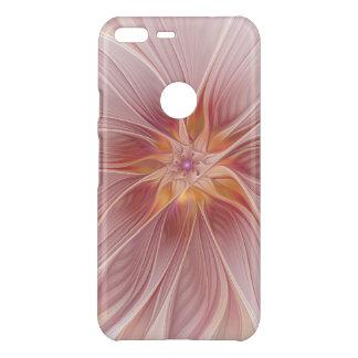 柔らかいピンクの花の夢の抽象芸術のモダンの花 UNCOMMON GOOGLE PIXEL XLケース