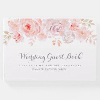 柔らかいピンクの花の結婚式 ゲストブック