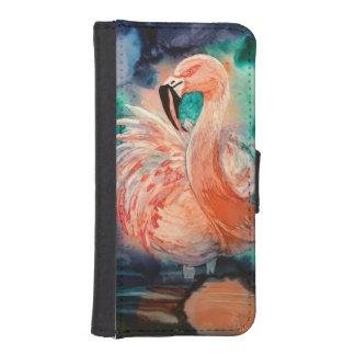 柔らかいフラミンゴ iPhoneSE/5/5sウォレットケース