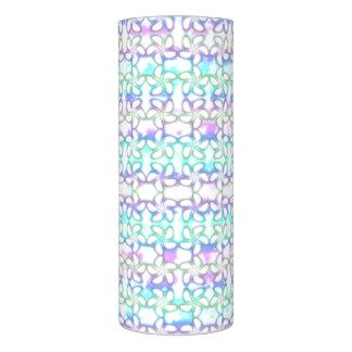 柔らかいプルメリアのピンクのターコイズの紫色の水彩画 LEDキャンドル