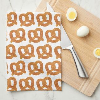 柔らかいプレッツェルパターン キッチンタオル