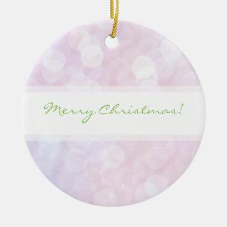 柔らかいマットの輝きのピンクのクリスマスのオーナメント セラミックオーナメント