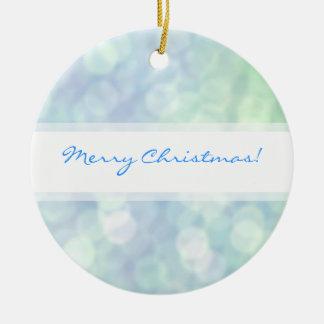 柔らかいマットの輝きの青いクリスマスのオーナメント セラミックオーナメント