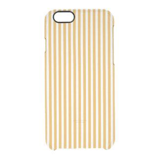 柔らかいマリーゴールドの黄色の小屋のストライプ クリアiPhone 6/6Sケース