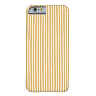 柔らかいマリーゴールドの黄色の小屋のストライプ BARELY THERE iPhone 6 ケース