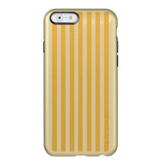 柔らかいマリーゴールドの黄色の小屋のストライプ INCIPIO FEATHER SHINE iPhone 6ケース