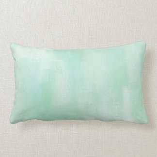柔らかいミントの抽象芸術の枕 ランバークッション