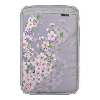 柔らかいライト人力車の袖の桜 MacBook スリーブ