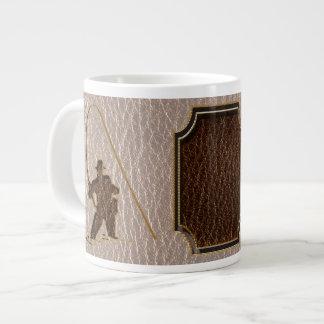 柔らかいレザールックの漁師 ジャンボコーヒーマグカップ