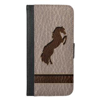 柔らかいレザールックの馬2 iPhone 6/6S PLUS ウォレットケース