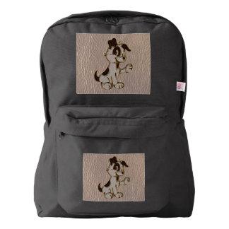柔らかいレザールック犬 AMERICAN APPAREL™バックパック