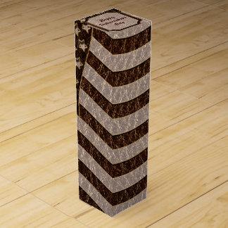 柔らかいレザールック米国の旗 ワインギフトボックス